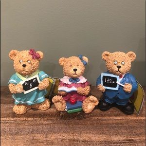NWT Set of 3 School Learning Bears
